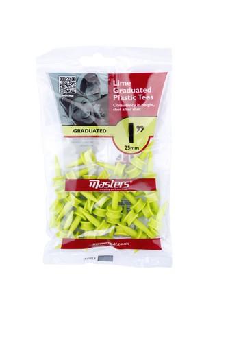 Plastic Graduated Tees 1 Bag 35 Lime