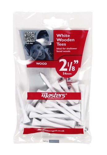 """Wood Tees Bumpa Bag 25 x White 2 1/8"""""""