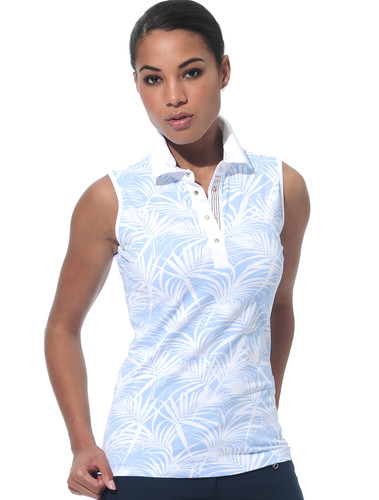 MDC Meryl Print Polo Shirt Sleeveless