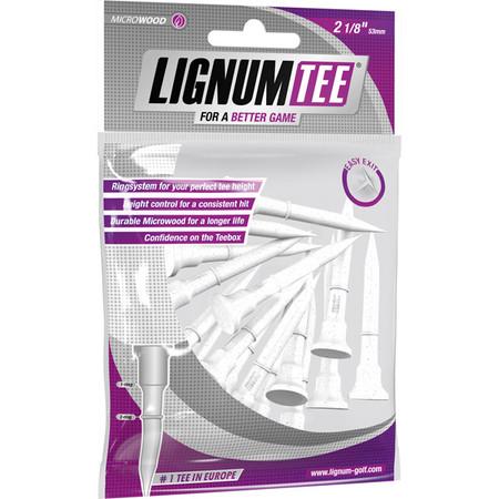 Lignum Tee 53 mm White 16 Pcs