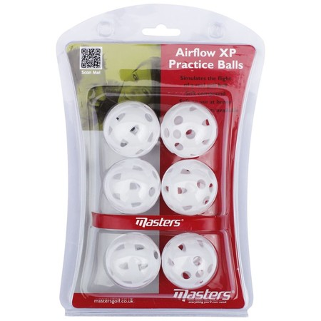 Masters Airflow XP Practice Balls White pack 6