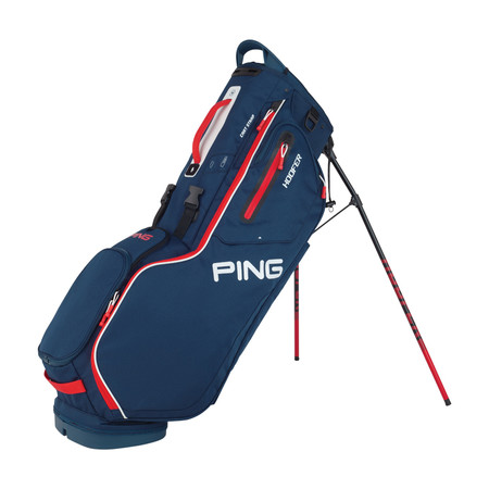 Ping Hoofer Stand Bag Navy Red White